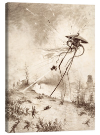 Canvas  Martian Fighting Machine Hit by Shell - Henrique Alvim Correa