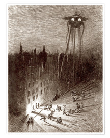 Premium poster  Martian Viewing Drunken Crowd - Henrique Alvim Correa