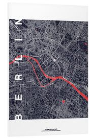 Foam board print  City of Berlin Map midnight - campus graphics