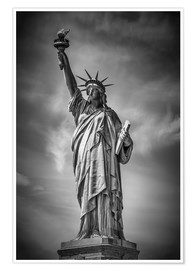 Premium poster  NEW YORK CITY Statue of Liberty - Melanie Viola