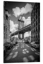 Acrylic print  Manhattan Bridge, New York - Melanie Viola