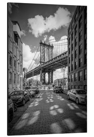 Aluminium print  Manhattan Bridge, New York - Melanie Viola
