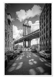 Poster NEW YORK CITY Manhattan Bridge