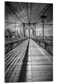Acrylic glass  NEW YORK CITY Brooklyn Bridge - Melanie Viola