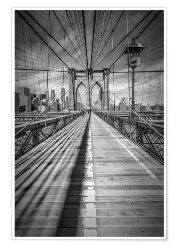 Poster NEW YORK CITY Brooklyn Bridge