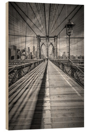 Wood  Brooklyn Bridge, New York City - Melanie Viola