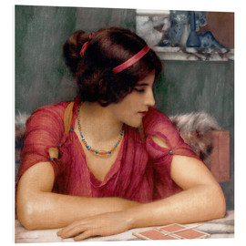 Foam board print  The Letter - John William Godward