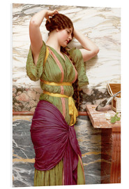 Foam board print  A fair reflection - John William Godward