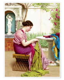 Premium poster  A stitch in time - John William Godward