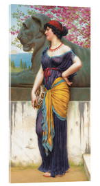 Acrylic print  In the grove of the Temple of Isis - John William Godward