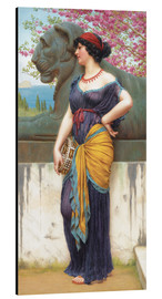 Aluminium print  In the grove of the Temple of Isis - John William Godward