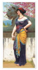 Poster  In the grove of the Temple of Isis - John William Godward