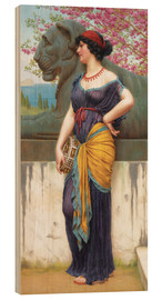 Wood print  In the grove of the Temple of Isis - John William Godward