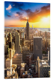 Acrylic print  Sunset over Manhattan, New York City - Jan Christopher Becke