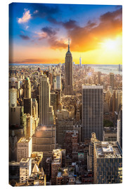 Canvas print  Sunset over Manhattan, New York City - Jan Christopher Becke