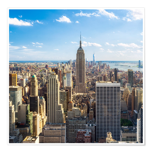 Premium poster Manhattan skyline with views of the Empire State Building