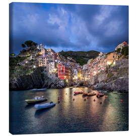 Canvas print  Riomaggiore at the Cinque Terre, La Spezia province, Italy - Jan Christopher Becke