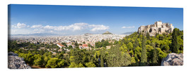 Canvas print  Athens panorama with skyline and acropolis - Jan Christopher Becke