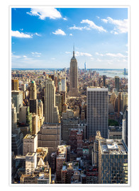 Poster Manhattan skyline in New York City, USA