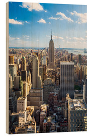 Wood  Manhattan skyline in New York City, USA - Jan Christopher Becke