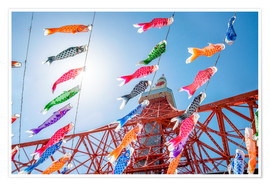 Premium poster Kodomo no hi Celebration at the Tokyo Tower in Japan