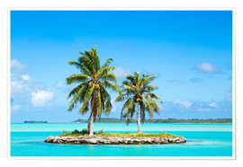 Premium poster Tropical island in the South Seas
