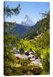 Canvas print  View of Zermatt and the Matterhorn, Swiss Alps, Switzerland - Jan Christopher Becke