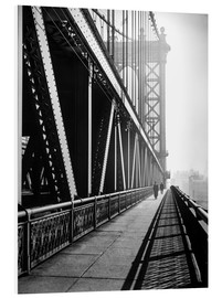 Foam board print  Manhattan Bridge 1936 - Christian Müringer