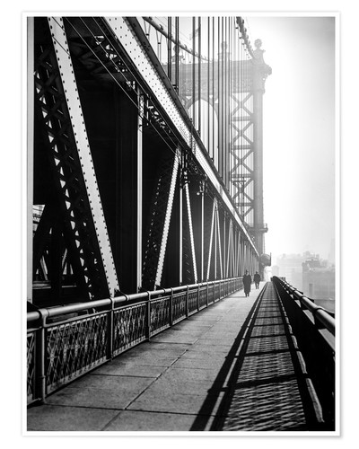 Premium poster Manhattan Bridge 1936