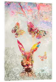 Acrylic print  Butterflies and Hare - Ella Tjader
