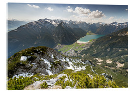 Acrylic glass  View of the Achensee from Ebnerjoch - Markus Kapferer
