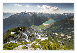 Premium poster View of the Achensee from Ebnerjoch