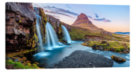 Canvas print  Magical Iceland, Waterfall on Snaefellsnes - Sascha Kilmer