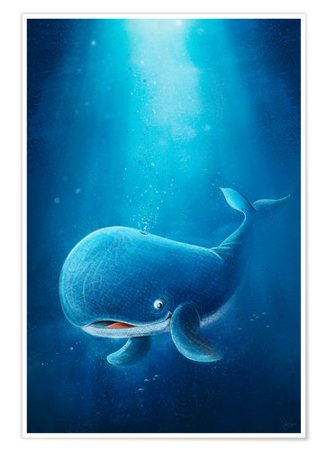 Poster Cute whale