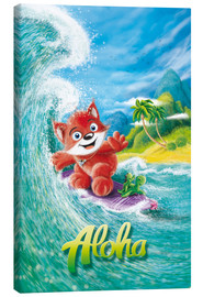Canvas  Aloha Surfer Fox - Stefan Lohr