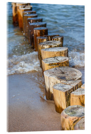 Acrylic print  Groynes at the German Baltic Sea - Christian Müringer