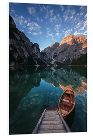 Foam board print  Early morning on Lake Braies / Lago di Braies - MUXPIX