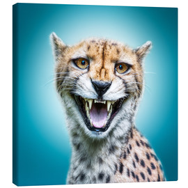 Canvas print  Funny Wild Faces Cheetah - Manuela Kulpa