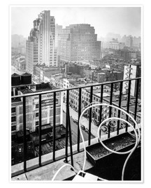 Premium poster New York: View from penthouse, 56 Seventh Avenue, Manhattan