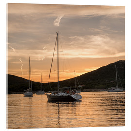Acrylic print  Sailing boats in the Evening Light - Markus Ulrich