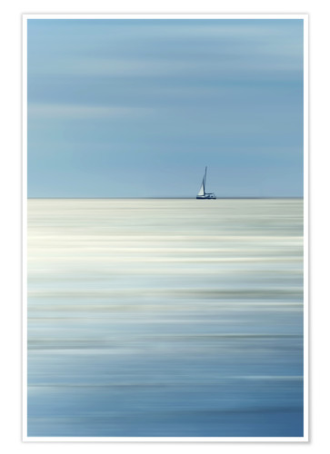 Premium poster Sailboat on the sea