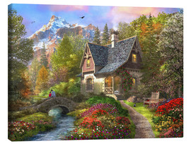 Canvas print  The Log Home - Dominic Davison