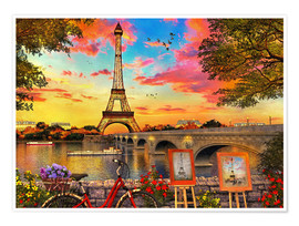 Premium poster  Paris Sunset - Dominic Davison