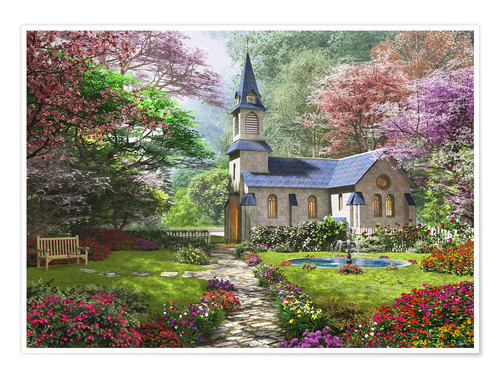 Premium poster The Country Church