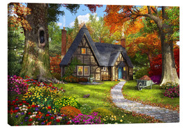 Canvas print  The Little Autumn Cottage - Dominic Davison