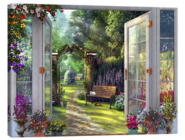 Canvas print  Garden View - Dominic Davison
