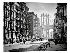 Acrylic print  Historic New York: Pike and Henry Streets, Manhattan - Christian Müringer
