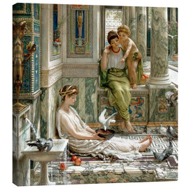 Canvas print  The corner of the villa - Sir Edward John Poynter