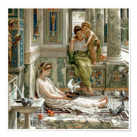 Premium poster  The corner of the villa - Sir Edward John Poynter