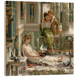 Wood print  The corner of the villa - Sir Edward John Poynter
